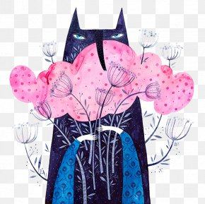 Holding Flowers Fox - Camberwell College Of Arts Illustrator Behance Graphic Design Illustration PNG