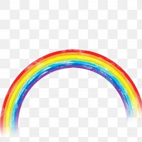 Rainbow - Cartoon Chemical Element Green PNG
