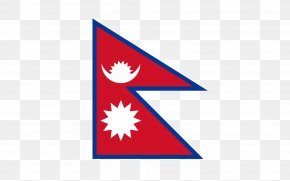 Triangular Flag - Flag Of Nepal National Flag Flags Of The World PNG