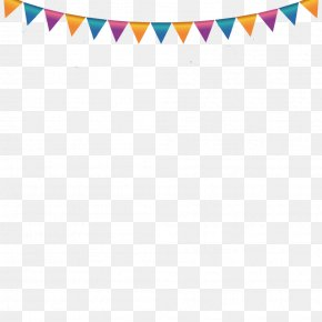 Summer Party Postcard - Vector Graphics Birthday Party Flag Illustration PNG