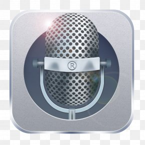Mobile Phone Icon - Microphone Mobile Phone Telephone Icon PNG