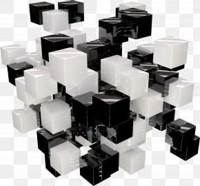 Black And White Cube Background - Computer Graphics PNG