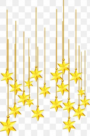 Vector Painted Gold Stars - Euclidean Vector Computer File PNG