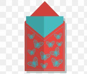 Vector Decorative Butterfly Red - Paper Red Envelope PNG