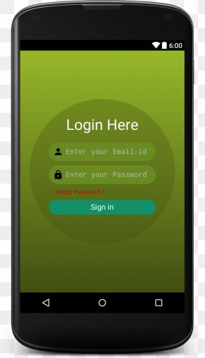 Login Interface - User Interface Design Android PNG