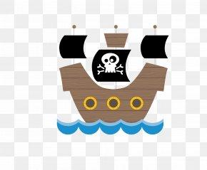 Pirate Ship - Piracy Cartoon PNG