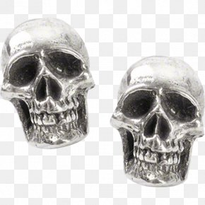 Jewellery - Earring Jewellery Skull Silver Charms & Pendants PNG