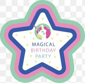 Pentagram Birthday Poster - Euclidean Vector Star Photography Description PNG