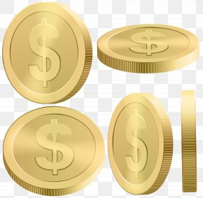 Gold Coins Clip Art Image - Image File Formats Lossless Compression PNG