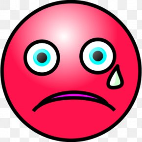 Crying Face Emoticon - Smiley Crying Emoticon Clip Art PNG