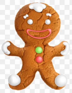 Gingerbread Ornament Clip-Art Image - The Gingerbread Man Gingerbread House Christmas Cookie PNG