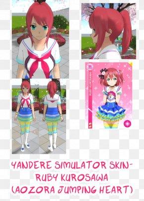 Love Live Ruby Wallpaper - Yandere Simulator Aozora Jumping Heart Desktop Wallpaper Character PNG