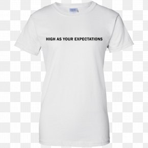 White T-shirt - T-shirt Hoodie Crew Neck Gildan Activewear PNG