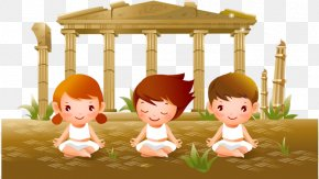 Yoga For Kids - Yoga Child Cartoon PNG