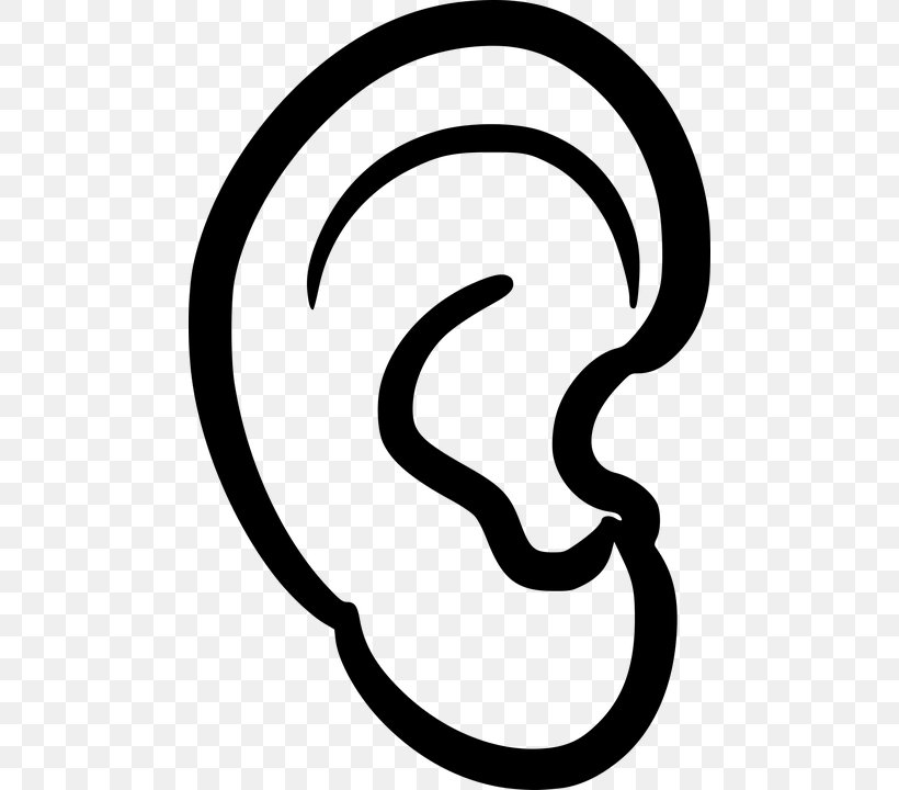 Ear Anatomy Clip Art, PNG, 476x720px, Ear, Area, Artwork, Black And White, Ear Anatomy Download Free