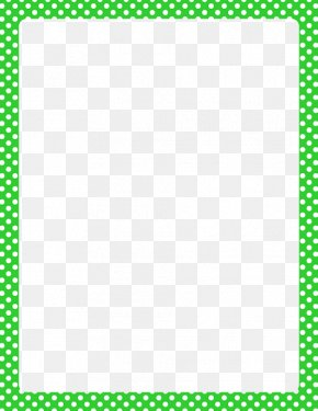 Lime Border Frame HD - Polka Dot Red Clip Art PNG