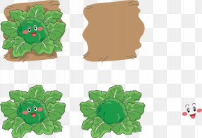 Vector Ground Broccoli Expression - Broccoli Facial Expression Illustration PNG