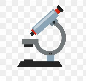 Vector Cartoon Microscope Material - Microscope Icon PNG