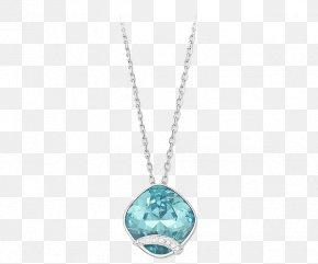 Swarovski Jewelry Empyrean Sapphire Necklace - Swarovski AG Necklace Jewellery Gemstone Colored Gold PNG