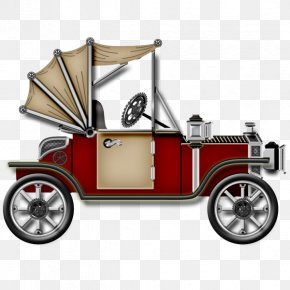 Old Car Material - Vintage Car Clip Art PNG