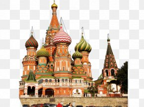 Russia - Saint Basil's Cathedral Red Square Moscow Kremlin GUM Church Of The Savior On Blood PNG