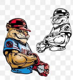 Vector Hand-painted Tiger - Bulldog T-shirt Baseball Mascot PNG