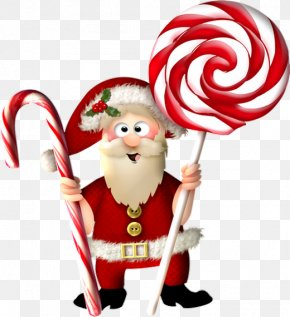 Santa Claus - Candy Cane Santa Claus Christmas Ornament Clip Art PNG