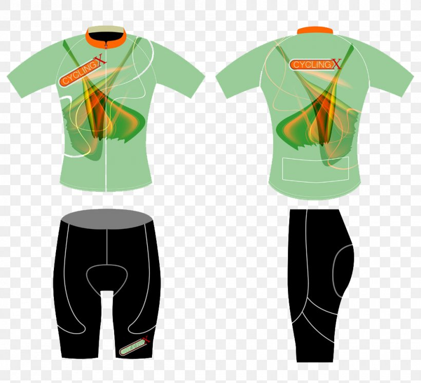 T Shirt Cycling Illustration Png 1000x909px Tshirt Clothing Cycling Cycling Jersey Green Download Free