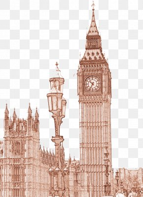 UK Big Ben - Big Ben Bell Historic Site Clock Tower PNG