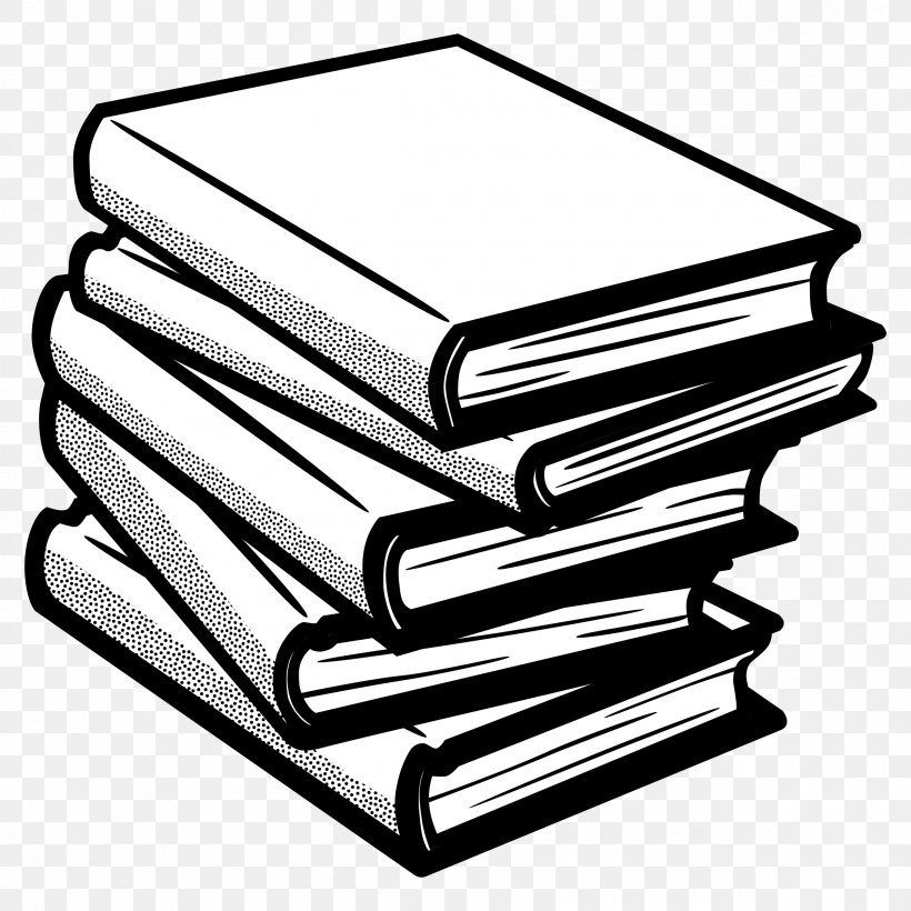 Book Line Art Clip Art, PNG, 2400x2400px, Book, Art, Black And White, Bookcase, Line Art Download Free