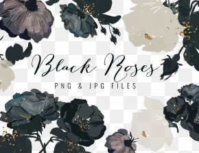 Vector Black And White Flowers - Flower Clip Art PNG