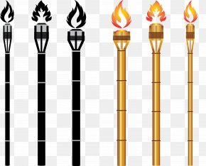 Vector Tiki Torch Carrier PNG