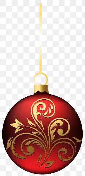Large Transparent BlueRed Christmas Ball Ornament Clipart - Christmas Ornament Christmas Decoration Clip Art PNG