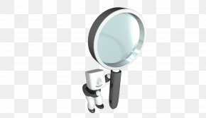 3D Villain With A Magnifying Glass - Magnifying Glass PNG