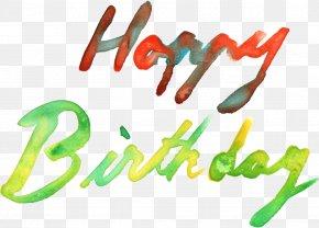 Watercolor Birthday - Birthday Cake Clip Art PNG