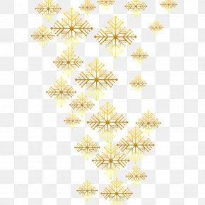 Vector Golden Snowflakes - Euclidean Vector Gold Computer File PNG