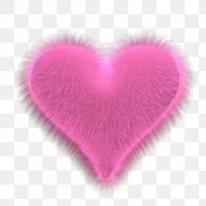 Hairy Pink Heart - Heart Valentine's Day Playing Card HTML Holiday PNG