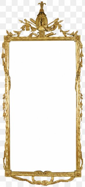 Square Mirror - Picture Frame Gold Gilding Mirror PNG