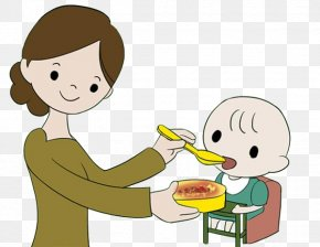 Mother Feeding Baby Food - Baby Food Eating Infant Child PNG