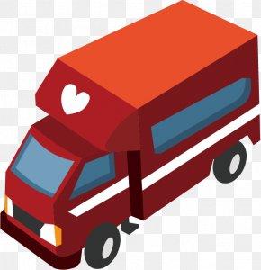 Vector Red Ambulance Floating Material - Car Euclidean Vector Gratis PNG