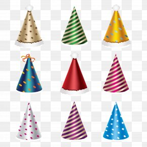 Christmas Hats - Christmas New Year's Day Party Greeting & Note Cards PNG