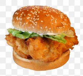 Hamburger, Burger Image - Hamburger Chicken Sandwich Buffalo Wing Chicken Nugget French Fries PNG