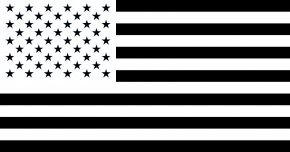 American Flag Clip Art - Flag Of The United States Black Clip Art PNG