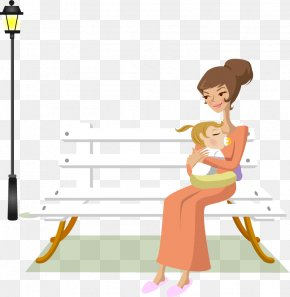 Vector Painted Hold The Child's Mother - Mother Child PNG