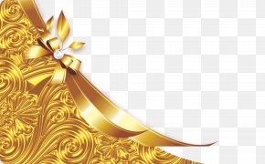 Golden Bow - Shoelace Knot Gold Wallpaper PNG