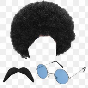 Afro Hair Transparent Images - 1970s 1960s Hippie Costume Party Wig PNG