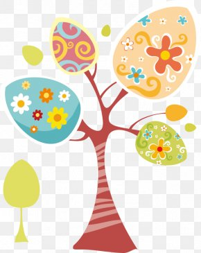 Cartoon Tree Material - Holy Week Happiness Easter Lent Ash Wednesday PNG