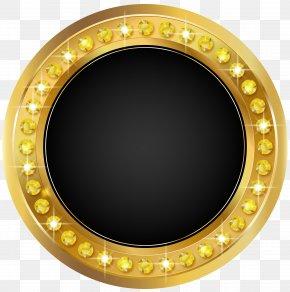 Seal Gold Black Transparent Clip Art Image - Seal Clip Art PNG