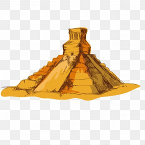 Hand-painted Pyramid - Mexico Pyramid PNG