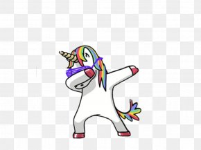 Unicorn Background - T-shirt Dab Unicorn Being Top PNG